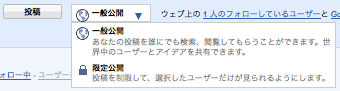 Google Buzz 公開設定