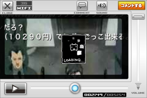 iPhone / iPod Touch ニコニコ動画 - LOADING